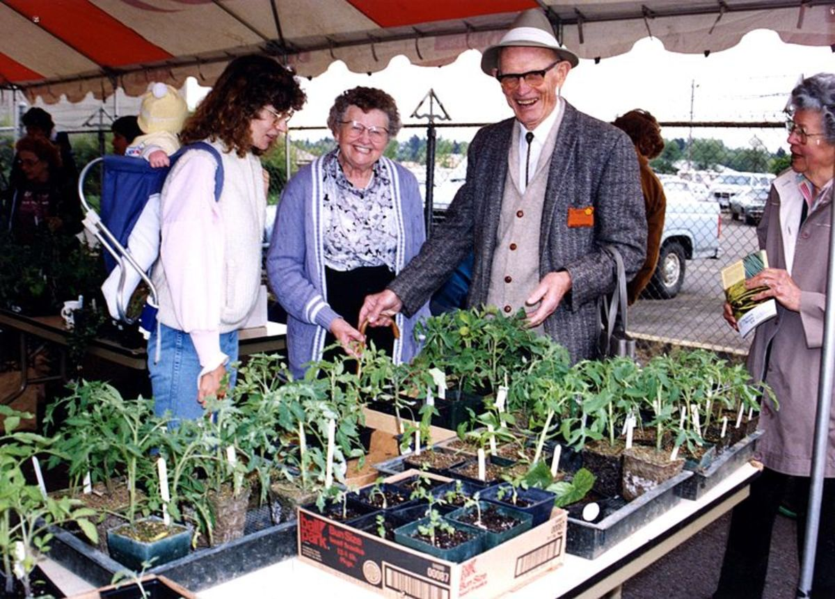 Master Gardeners host a plant sale.