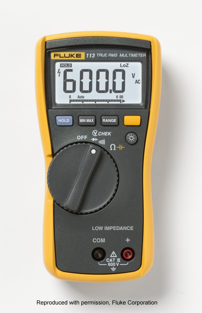 Fluke 113 general purpose true RMS digital multimeter.