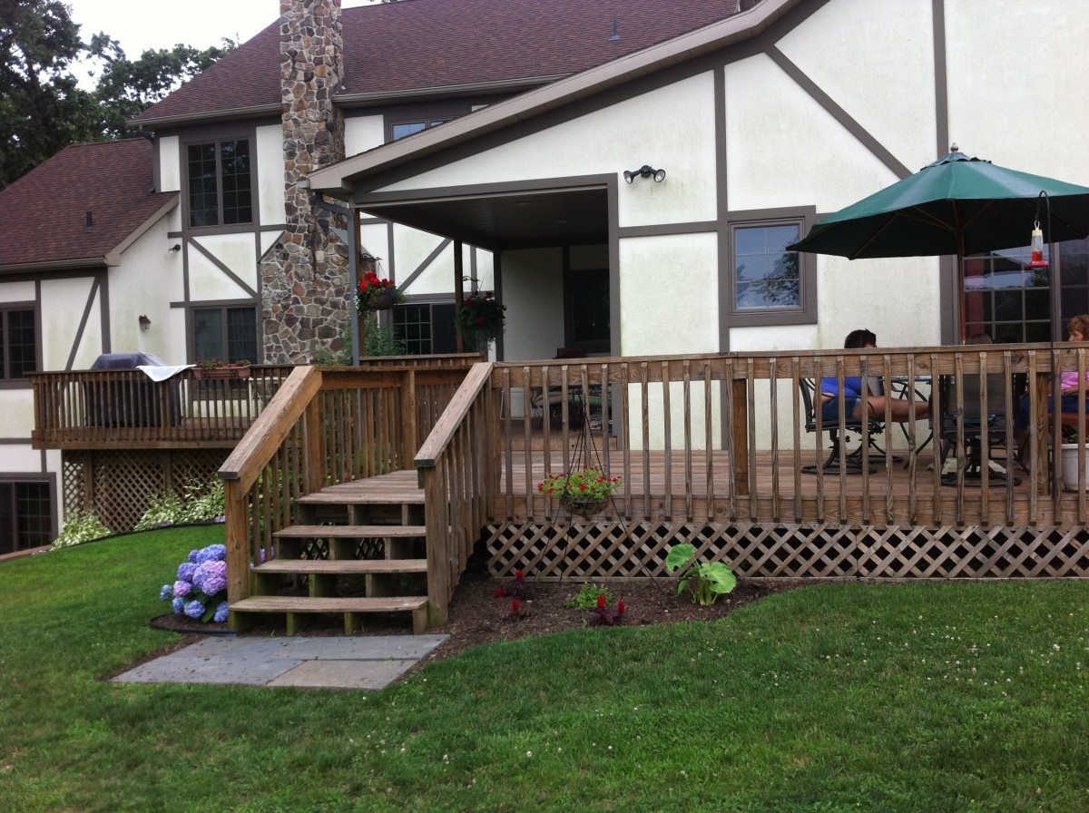 Here's the finished product of our family deck.