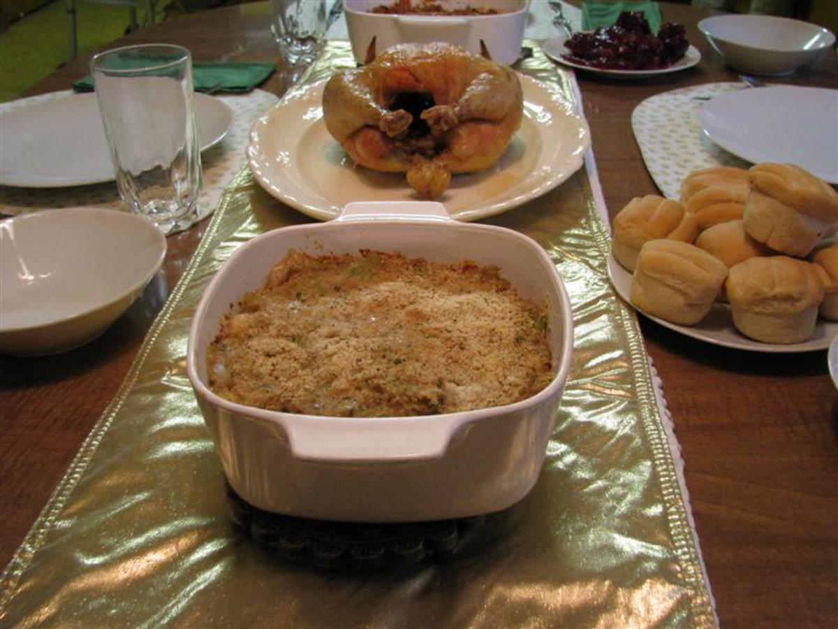 Stuffed mirlitons are a traditional south Louisiana holiday dish.