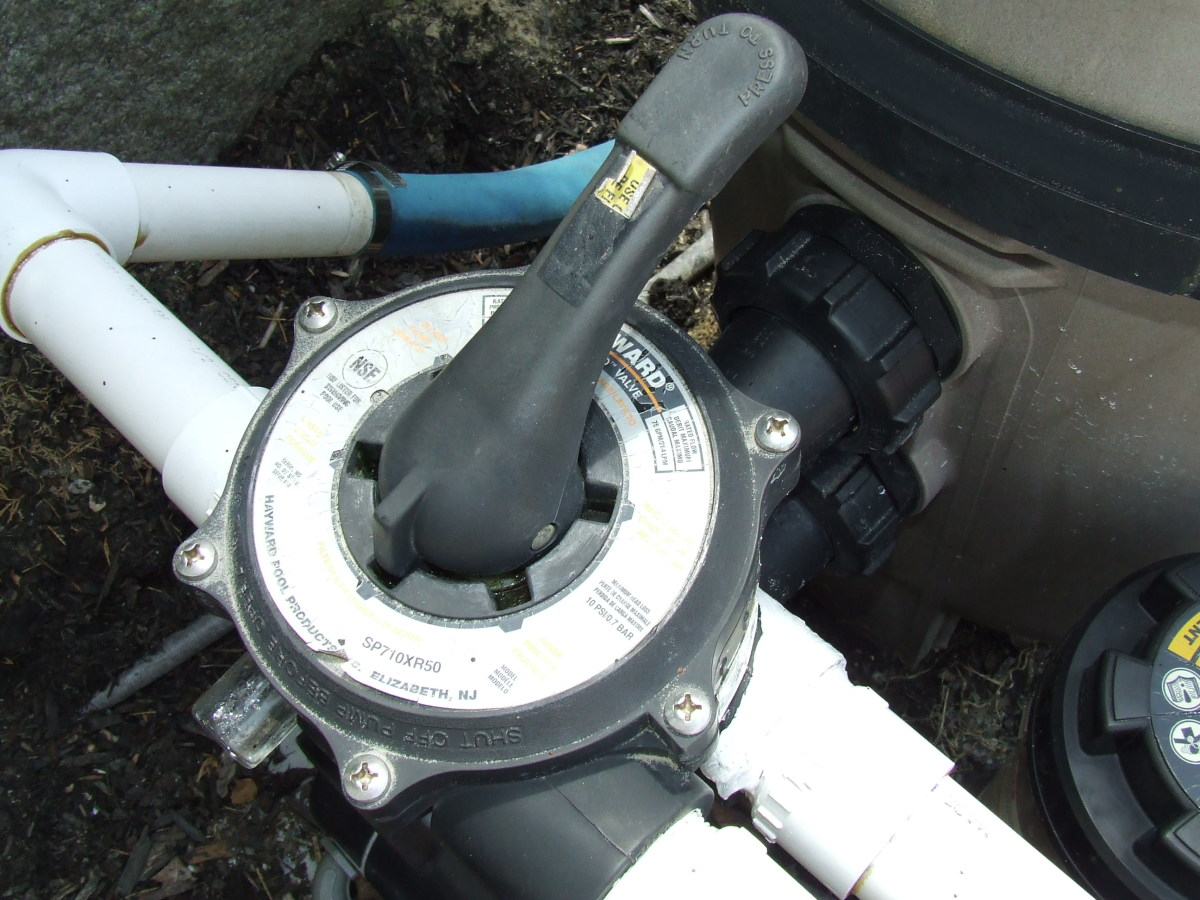 Set the diverter handle at the filter to waste when running the pump for the first time to remove any antifreeze.