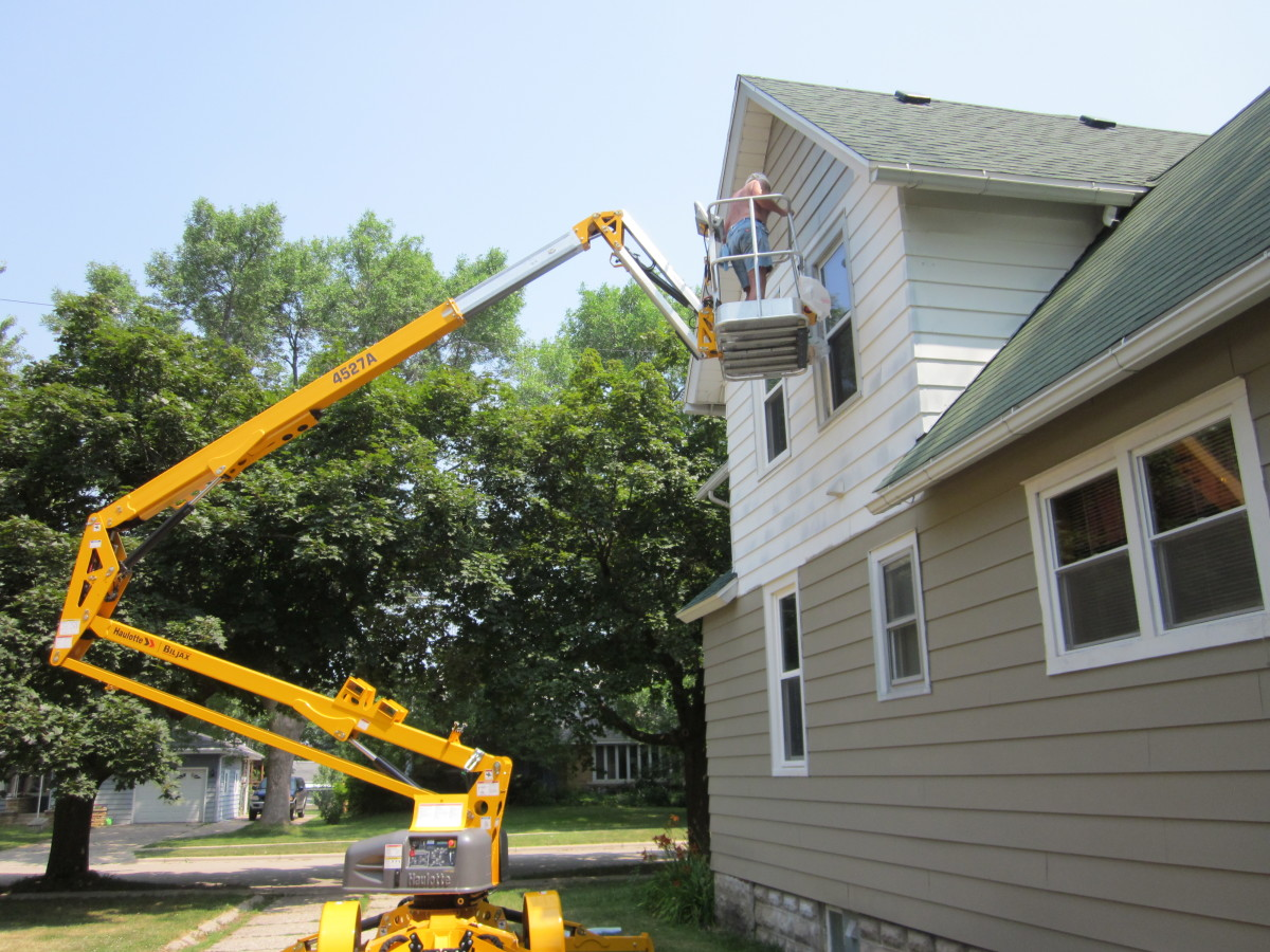 Painting The Exterior Of A Two Story House