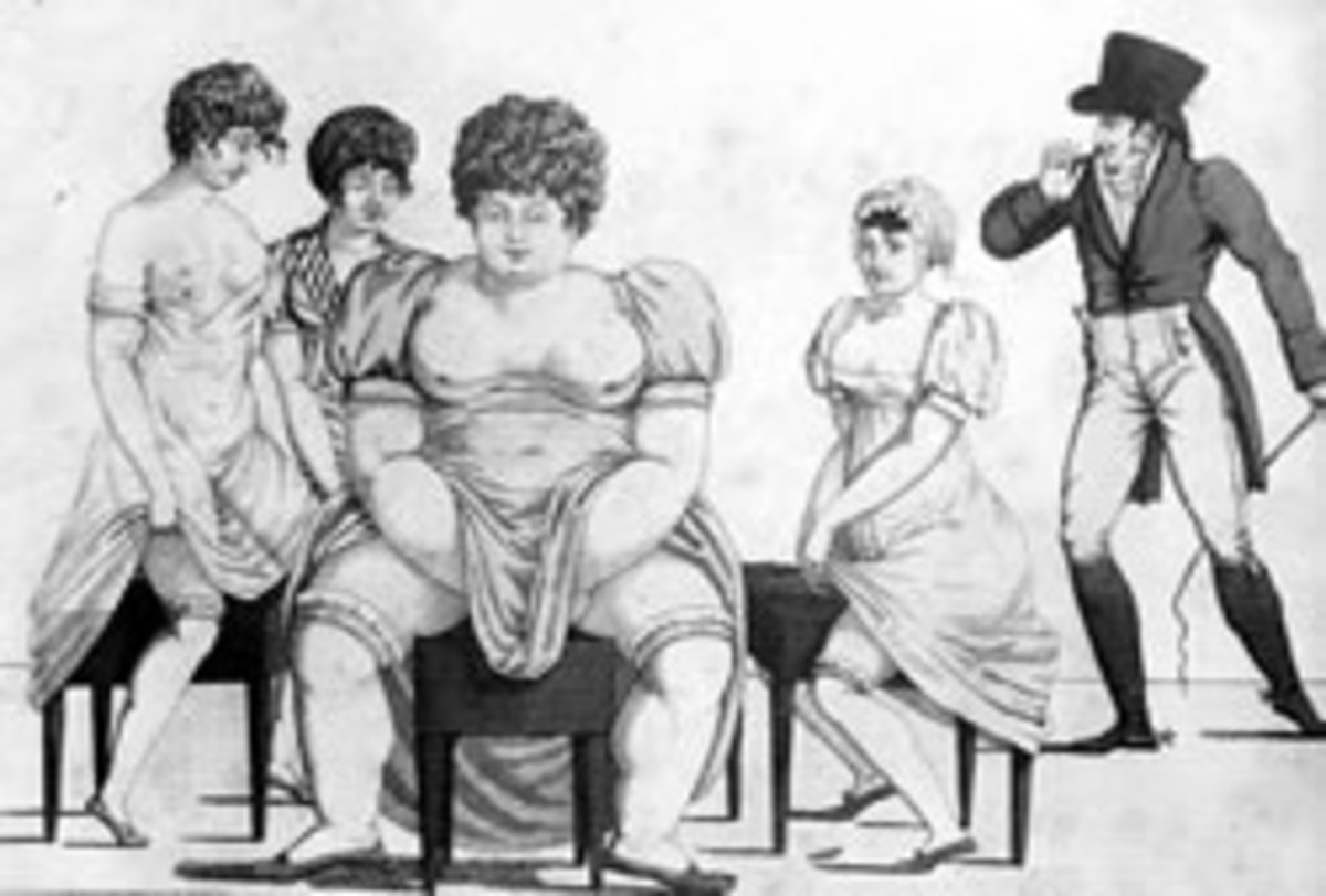 An etching from the 18th Century of ladies using bidets.
