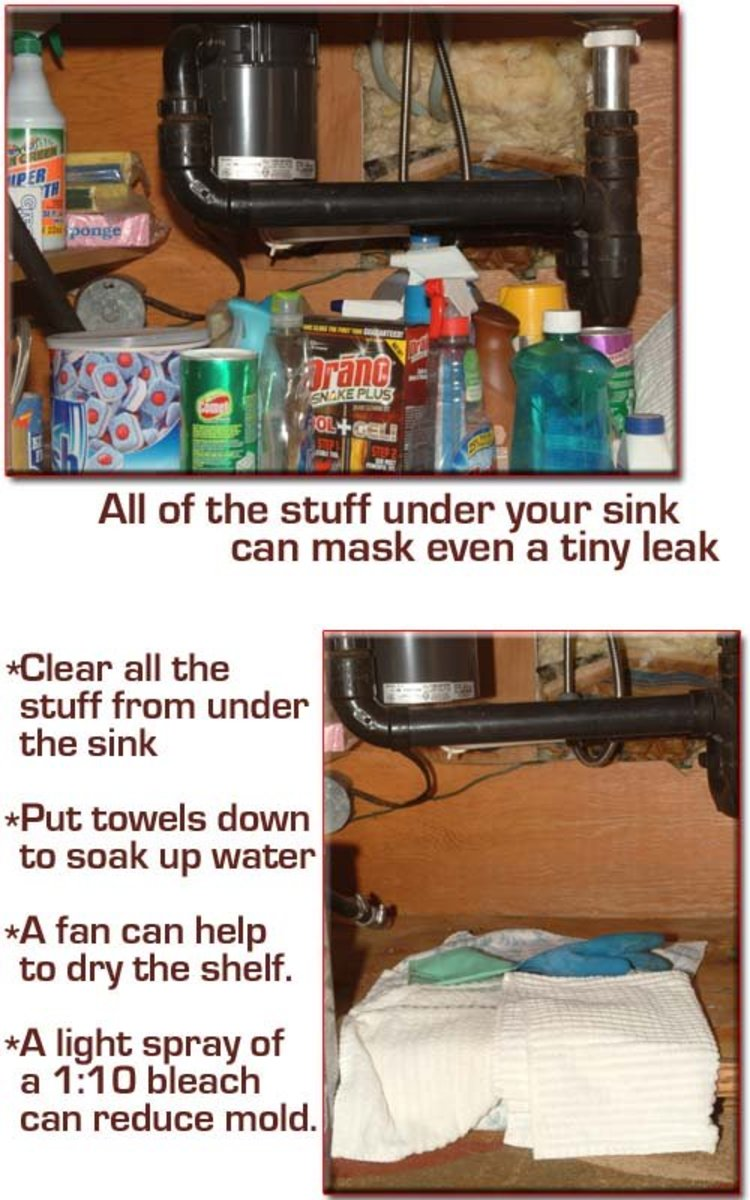 Remove all of the stuff stored under the sink and around the disposal before searching for the vibration leak.
