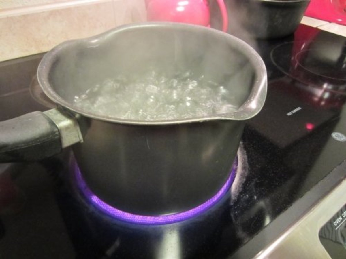 4 quarts of boiling water will do the trick.