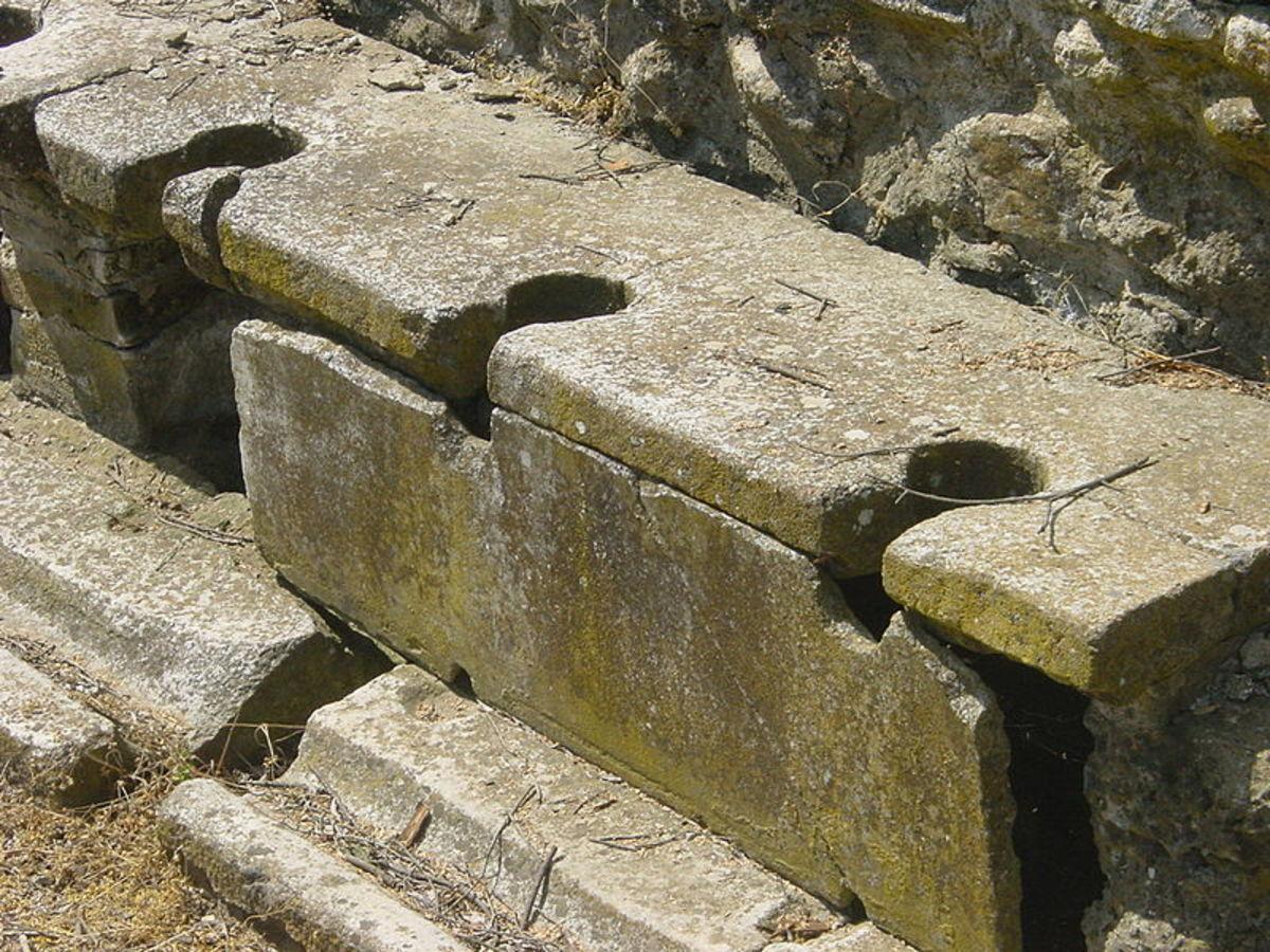 Antique Greek Public Toilets (PD-Self)