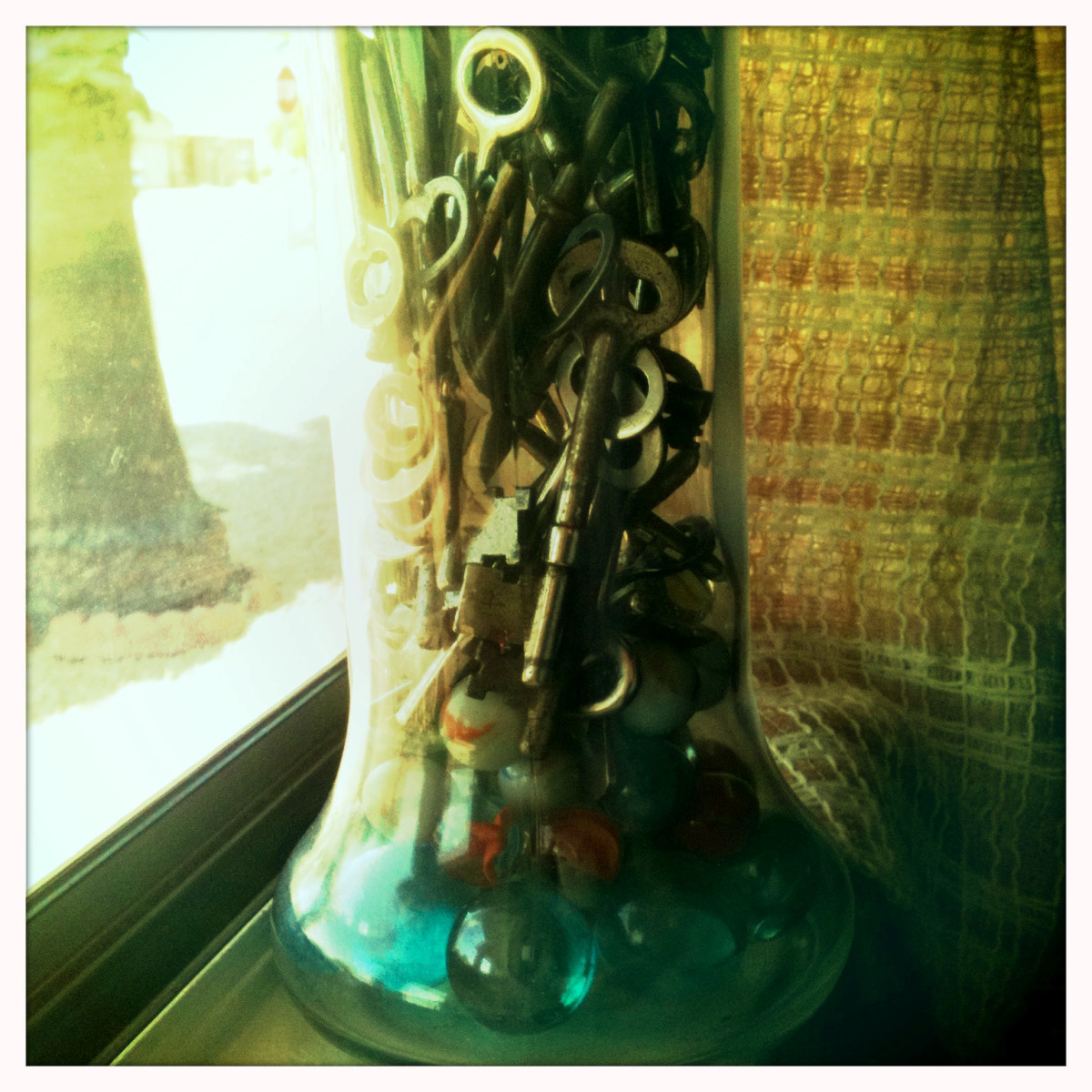 Fill a jar or vase with your beautiful keys!