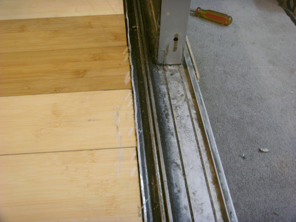 The Door Is Removed And The Section Of Track The Roller Rides On Is