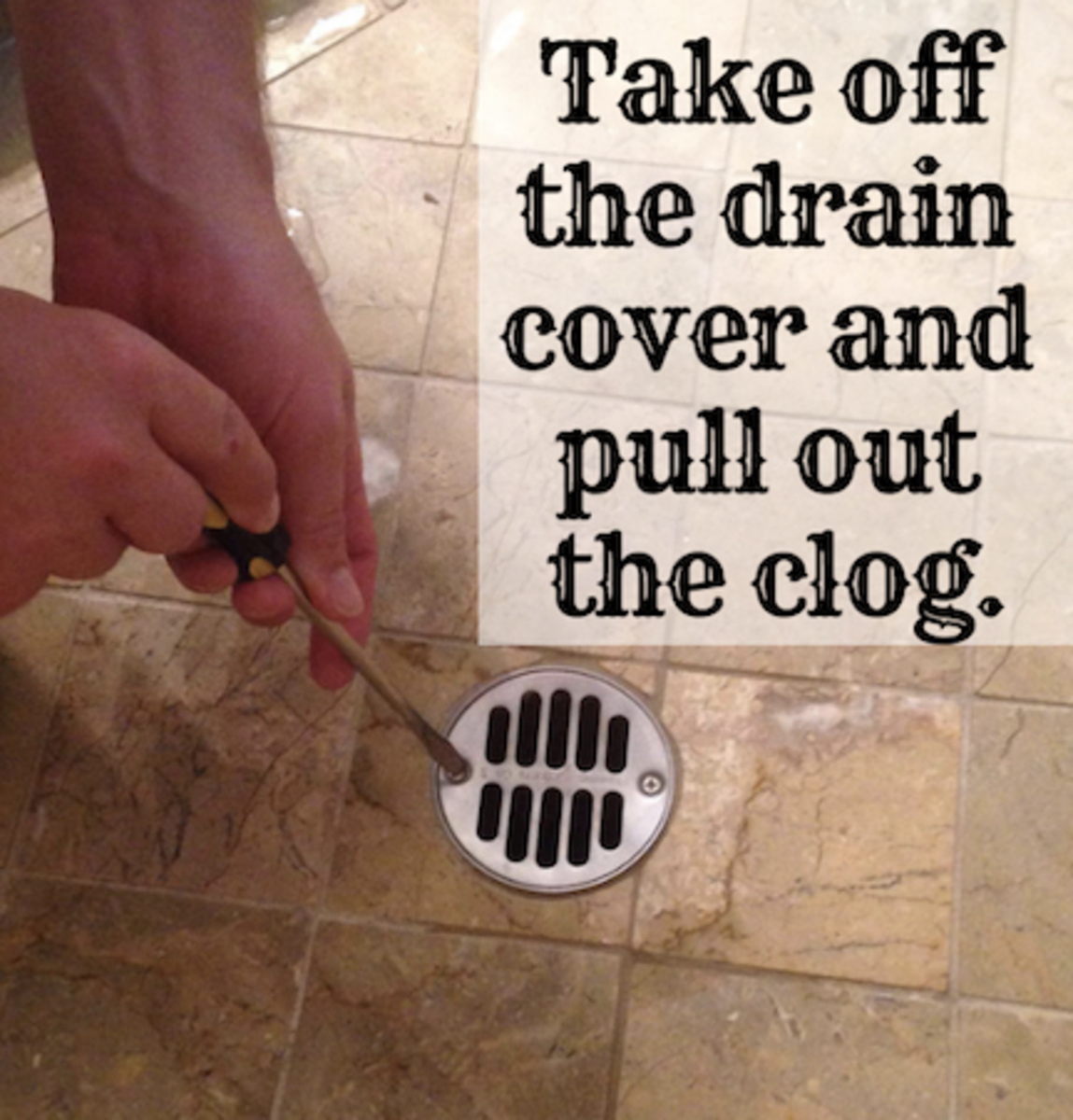 How To Clear A Clogged Shower Drain Methods Dengarden - Best way to clean stand up shower