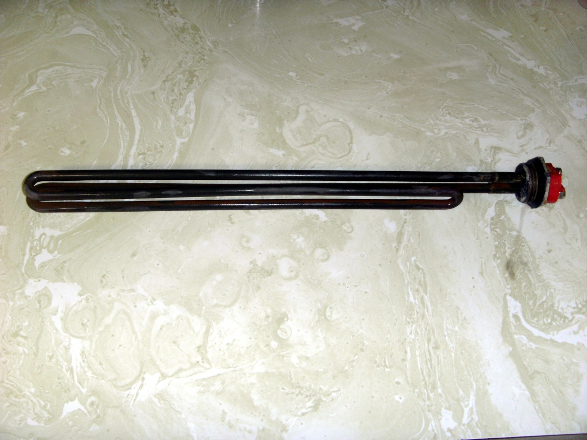 A used heating element.  Although discolored it is still quite serviceable.