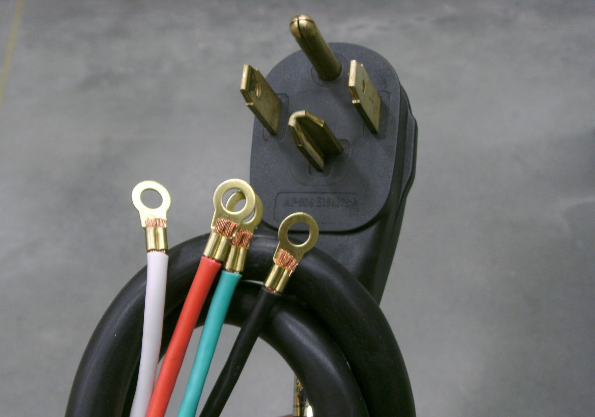 Example four-prong dryer cord