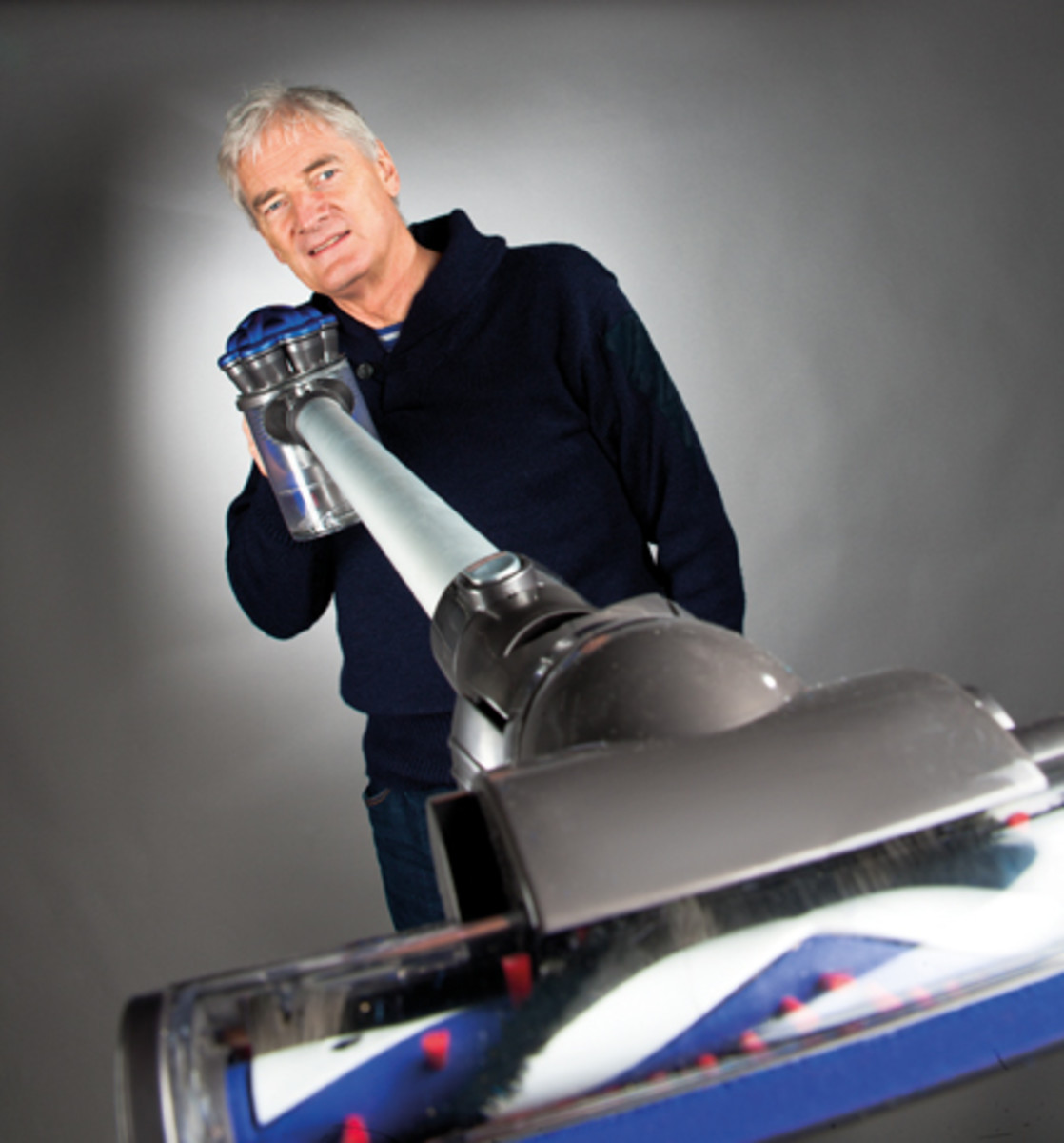 James Dyson, the Inventor, with the Amazing Dyson DC35 Digital Slim