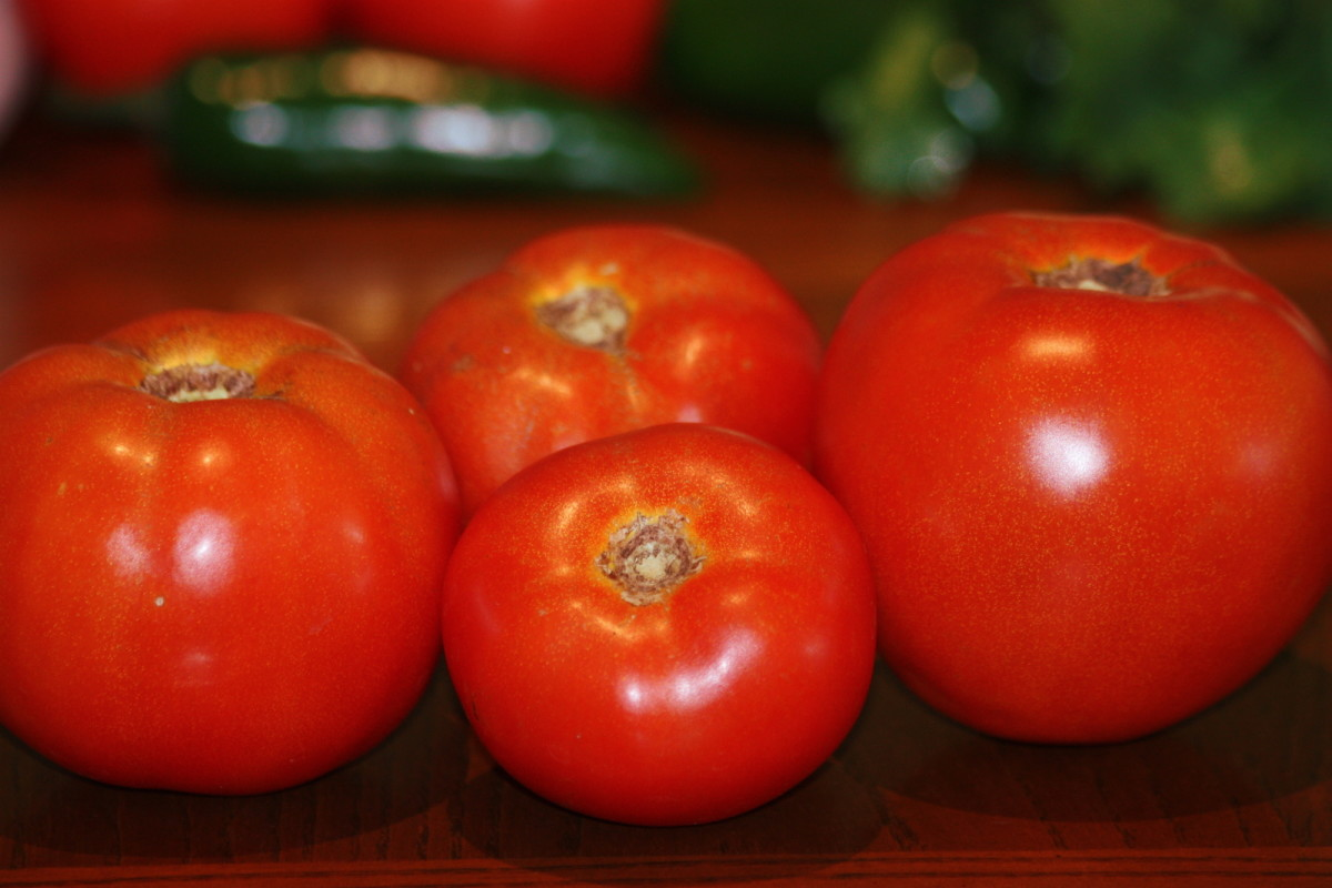 Fresh tomatoes from my garden.