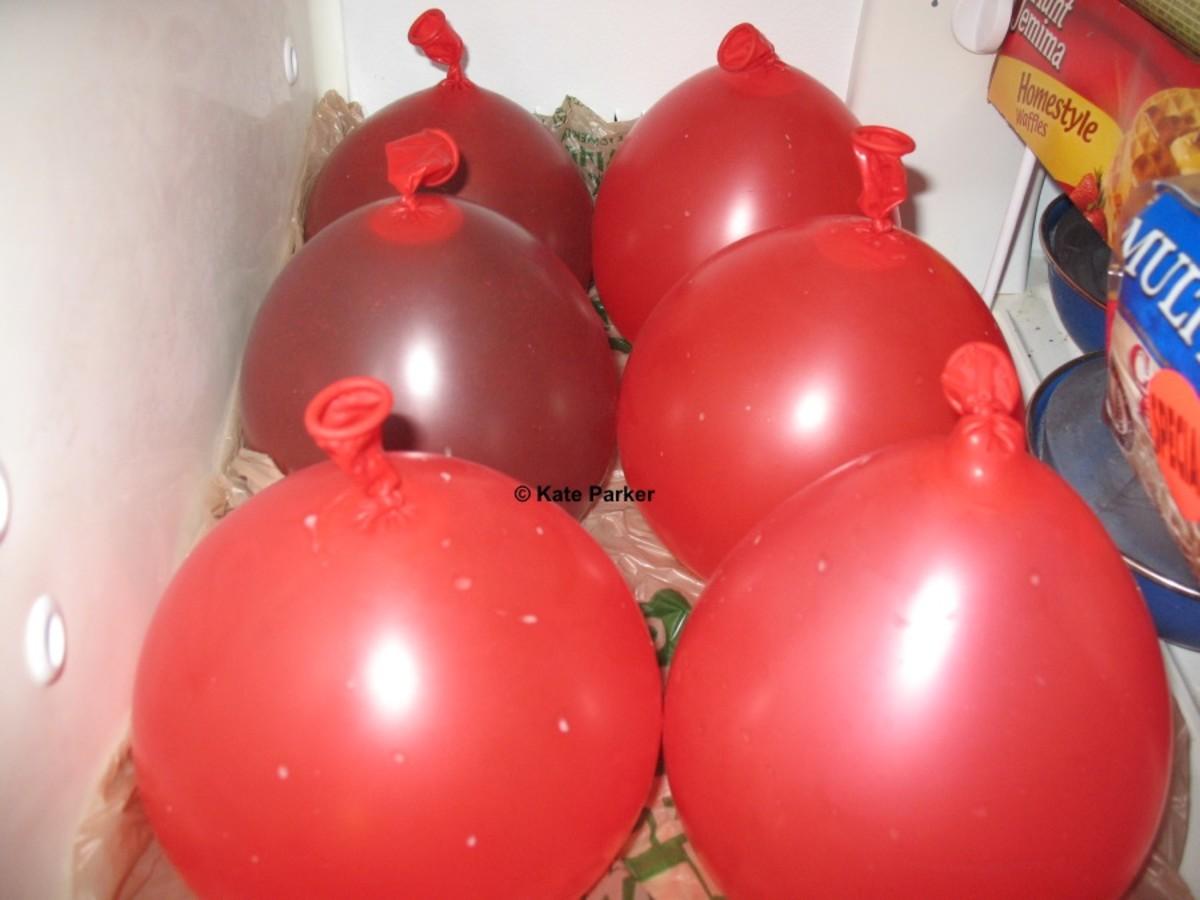 Freeze the balloon.
