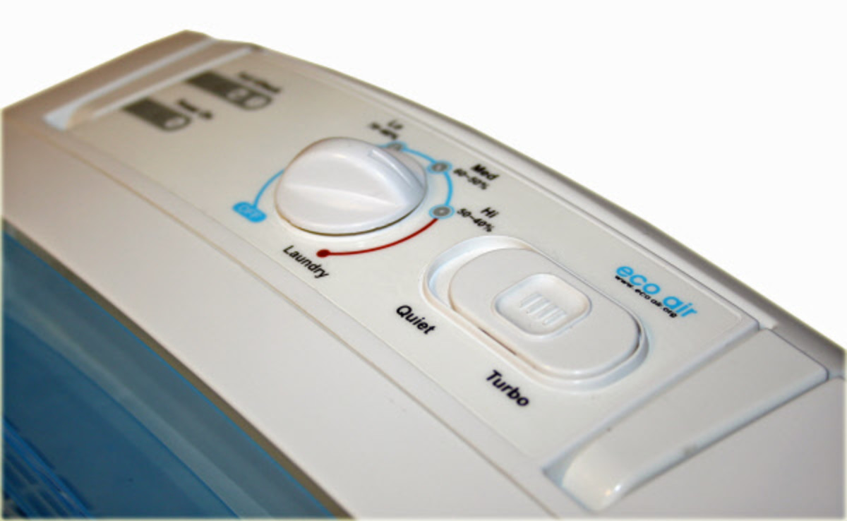 Typical Control Panel on a Simple Dehumidifier