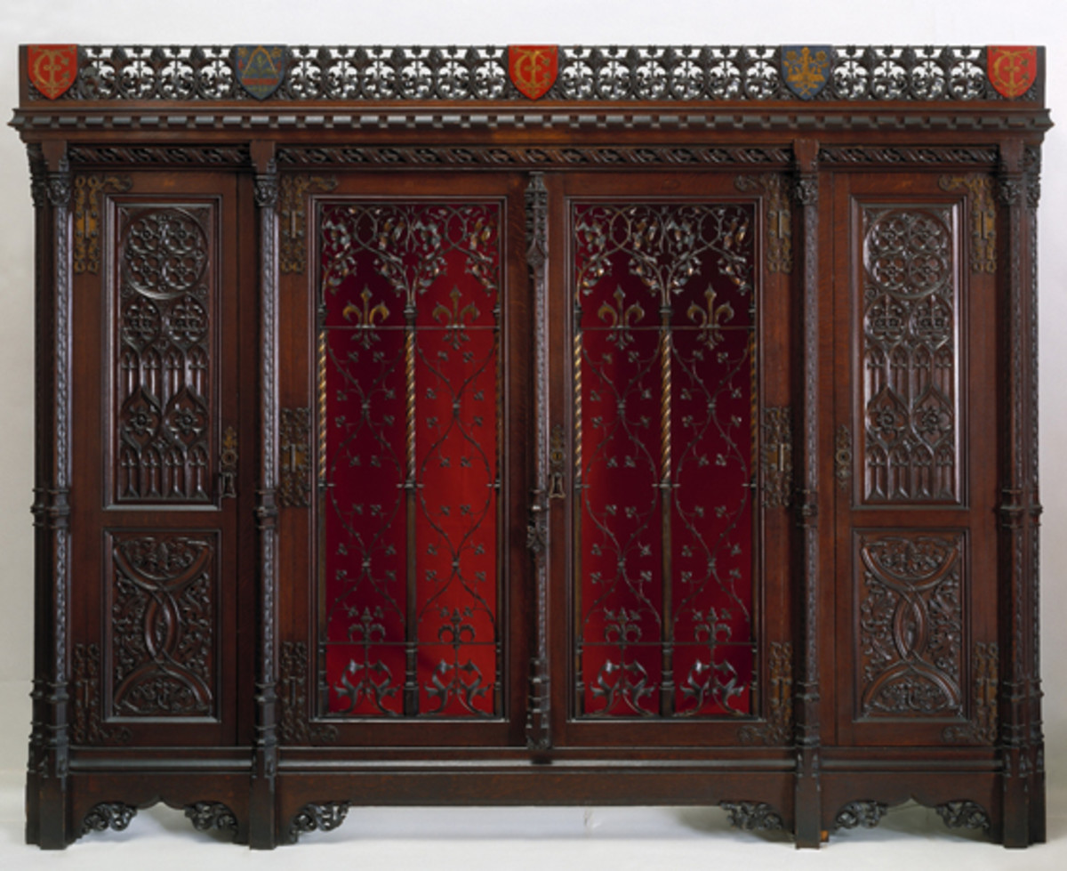 Gothic Revival style armoire made by AWN Pugin for the Great Exhibition