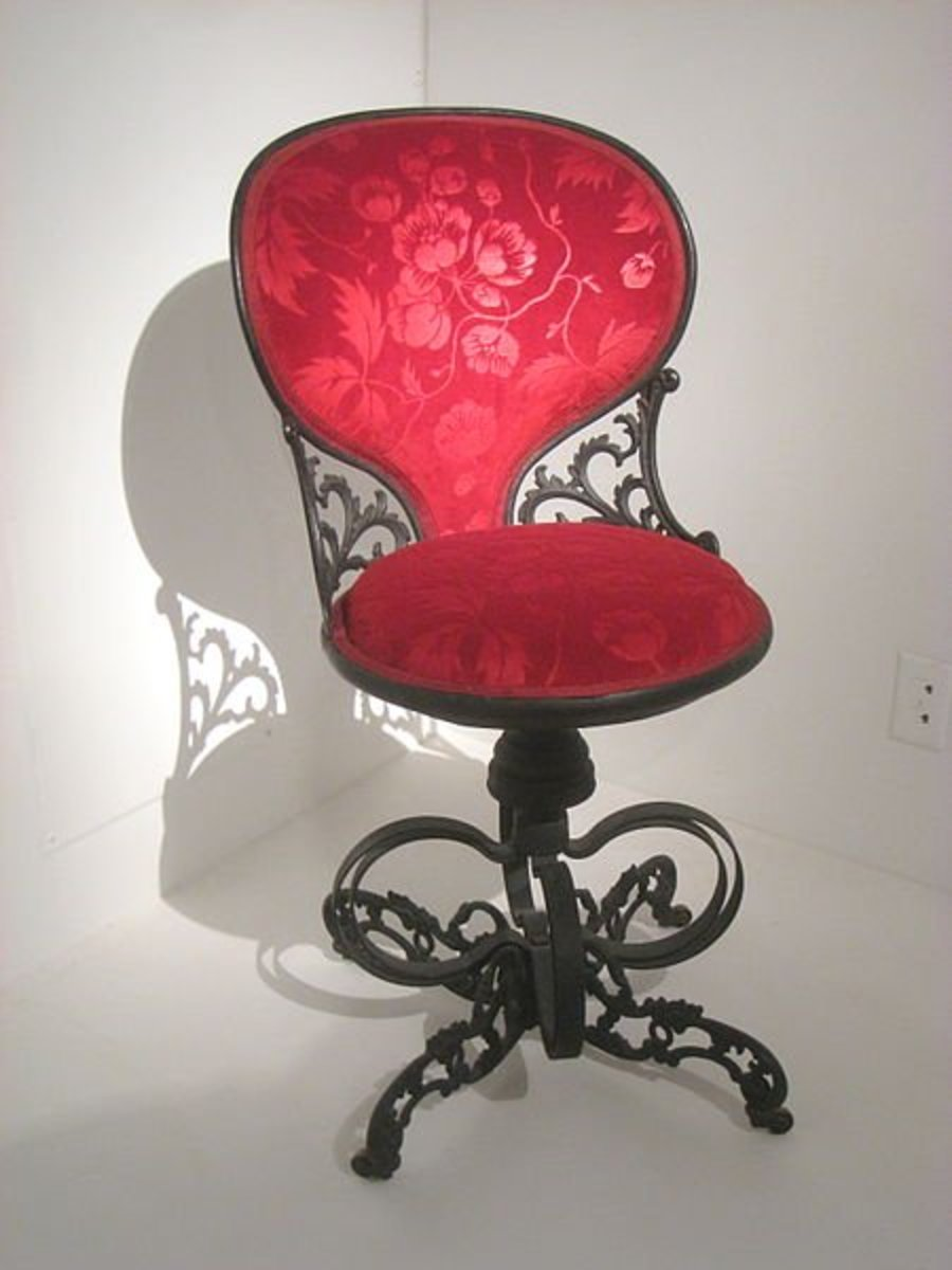 Centripetal Spring Chair, circa 1849, designed by Thomas E. Warren and exhibited at the Great Exhibition