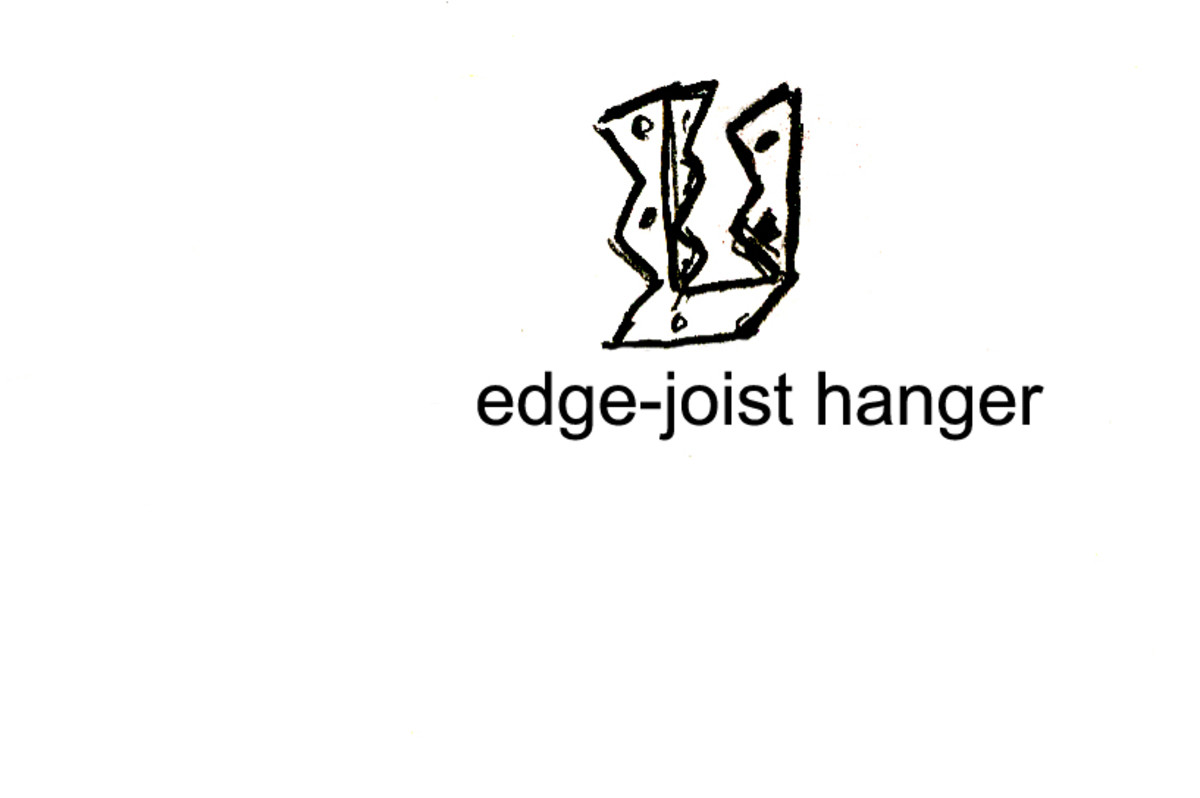 An edge joist hanger looks something like this