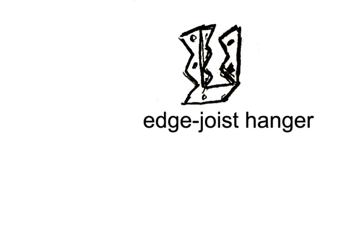 An edge joist hanger looks something like this