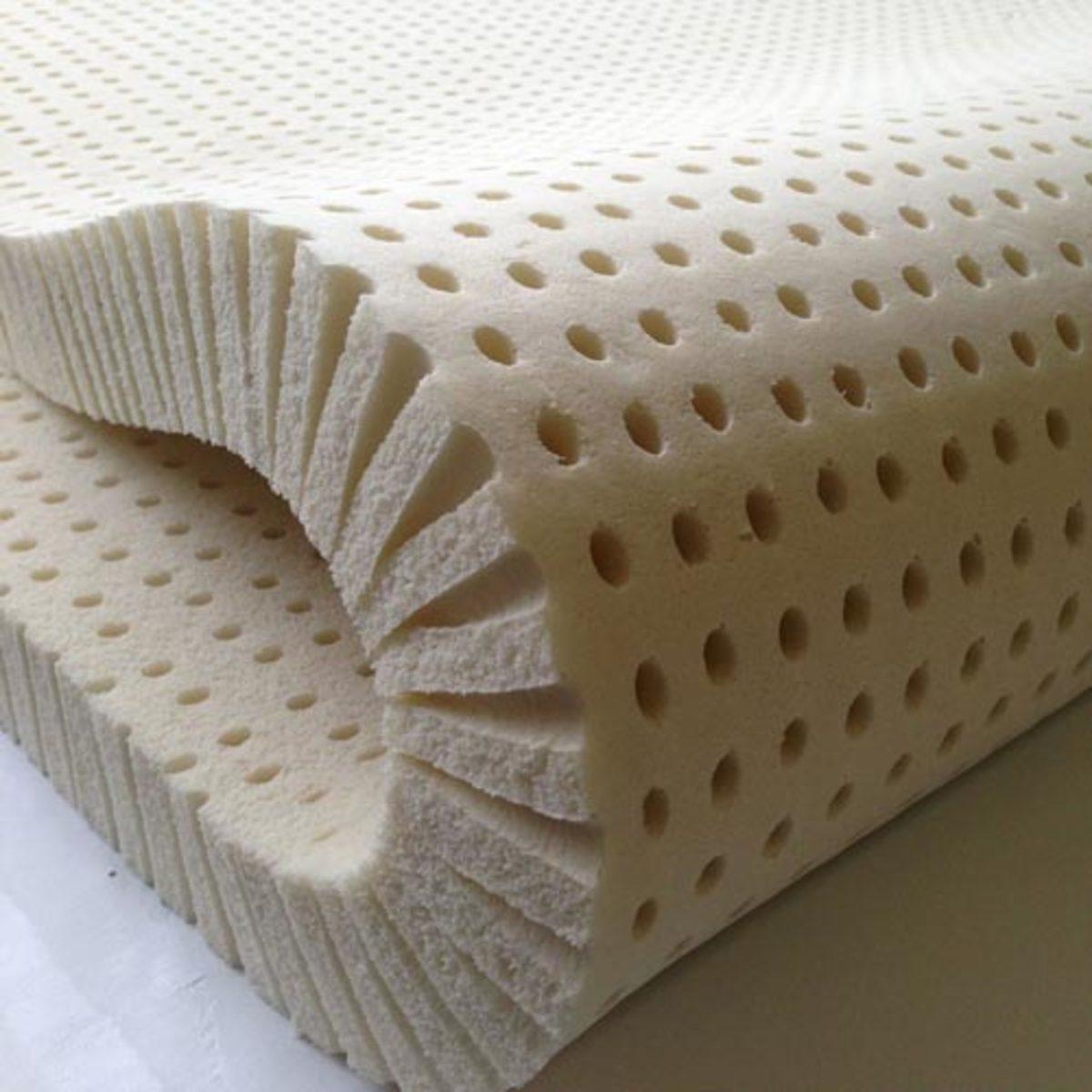 Latex foam is less dense than memory foam.