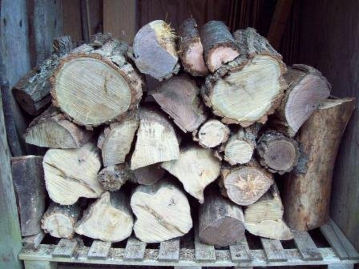 Having wood handy is great before a storm, especially if it's all chopped up.