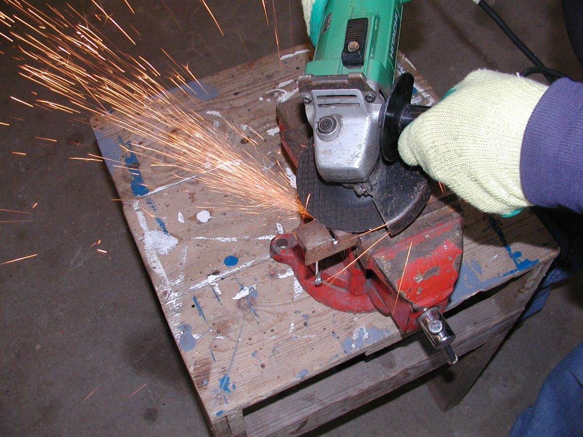 When grinding, Sparks can be directed to one side.