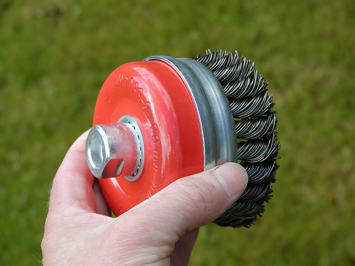 Wire brushes can be used for removing paint and rust