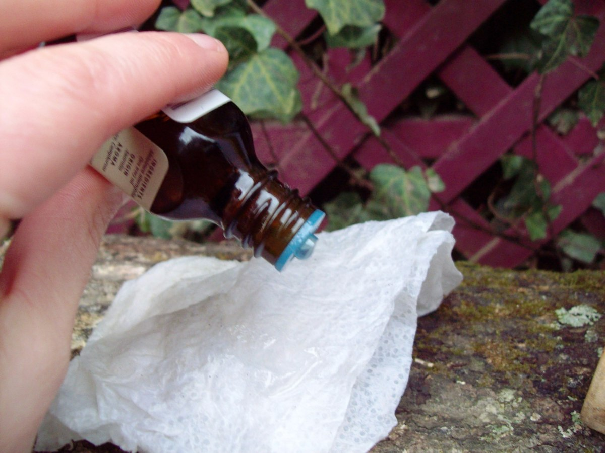 Add 5 to 6 drops to the paper towel. Then apply to your jacket.