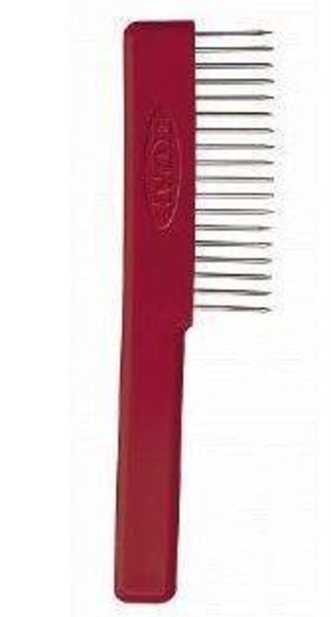 A Comb for Cleaning Paintbrushes