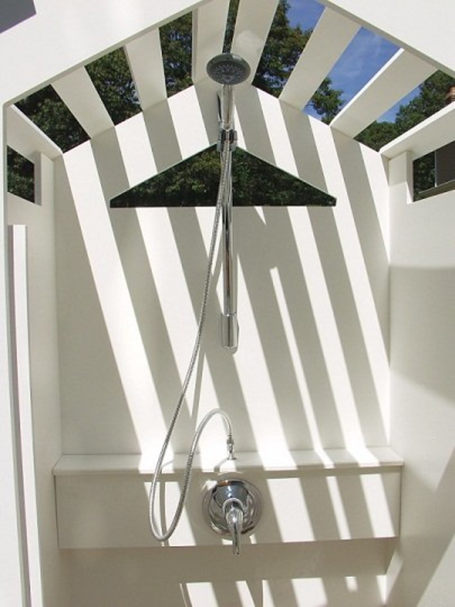 The PVC Outdoor Shower