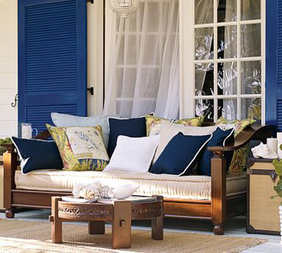 This exotic couch is classic yet relaxed.