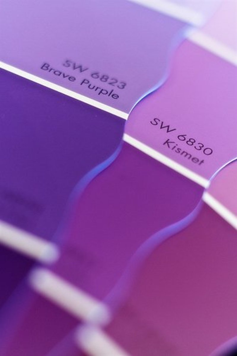From violet to plum, purple comes in many shades.