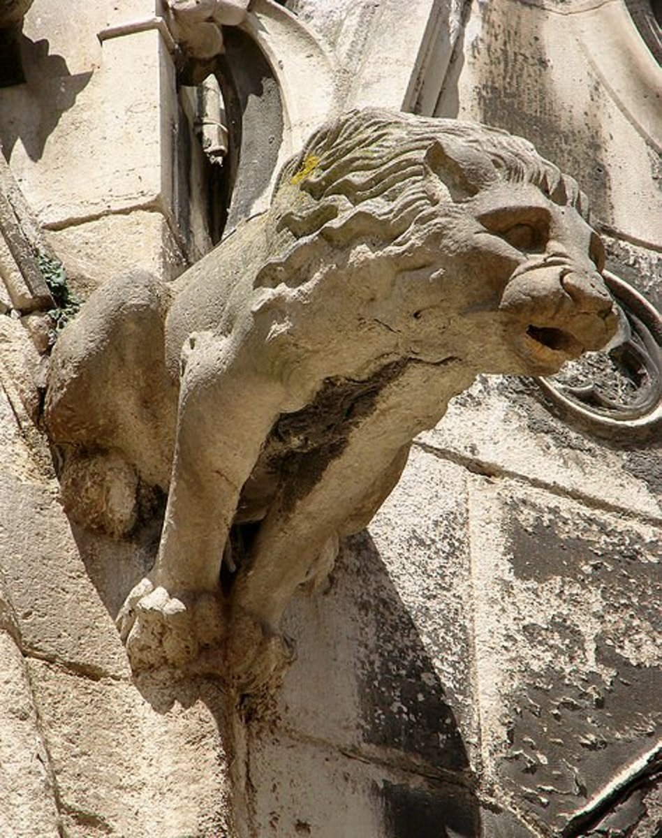 Gargoyle in form of a lion - Cathedral Saint-Etienne de Meaux