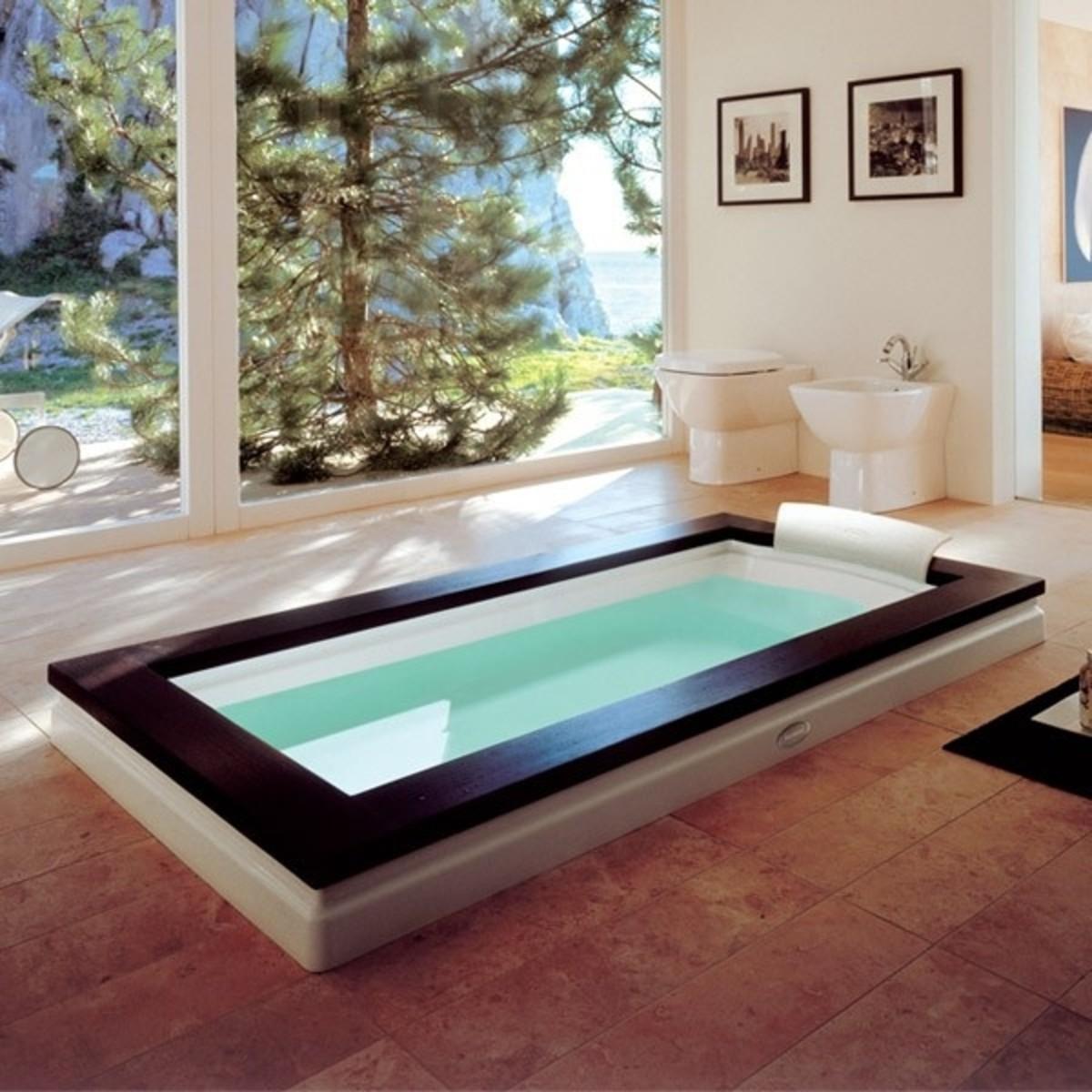 Jacuzzi Aura Uno Stone Inset Bath