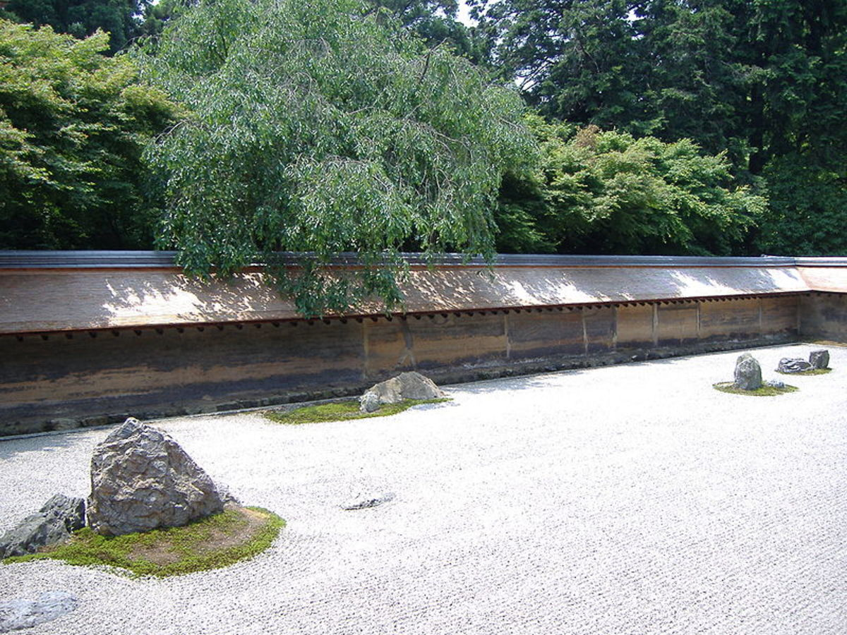 Zen Rock Garden at Ryoan-ji, Japan