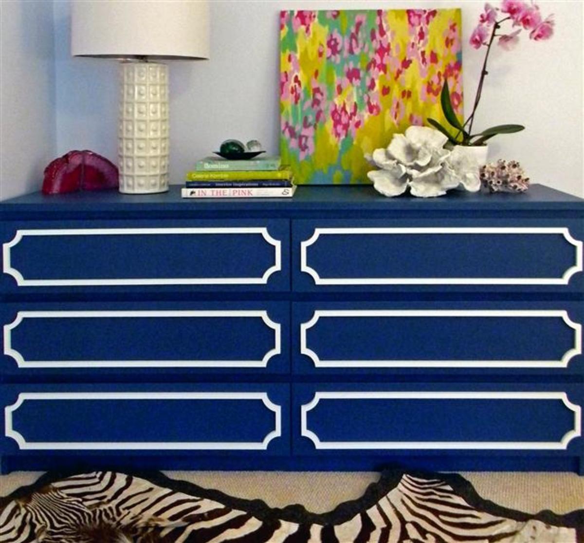 Ikea MALM dresser with O'verlays