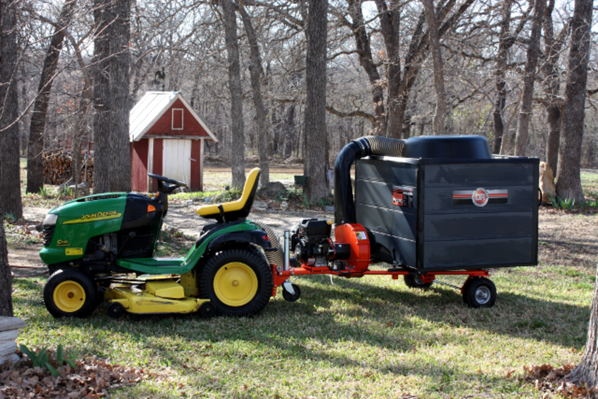 Our DR Lawn and Leaf Vacuum.