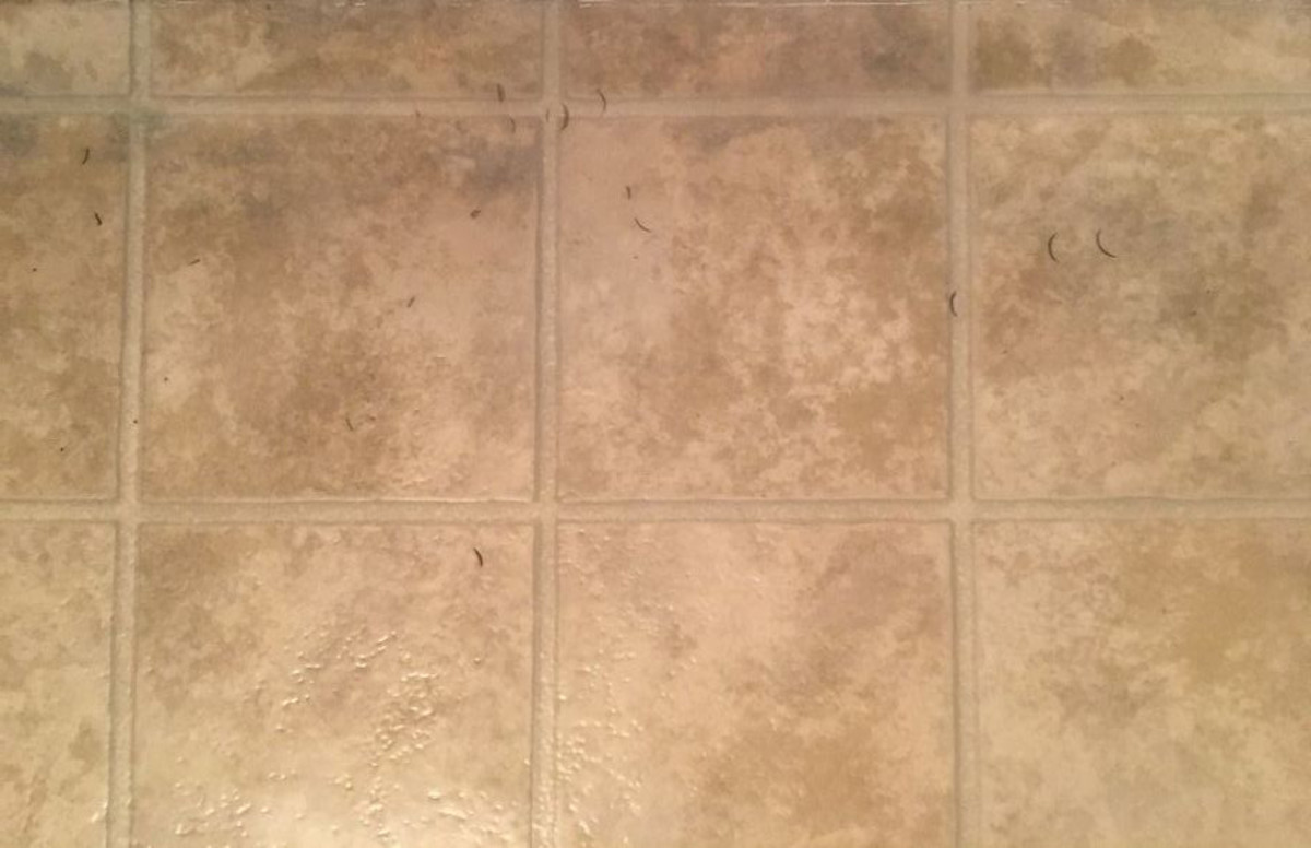 It's time to paint your old tile flooring.