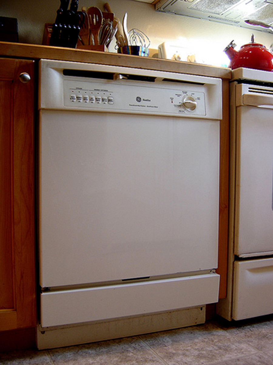 Most dishwashers have reversible front panels to easily change the color to match other appliances.