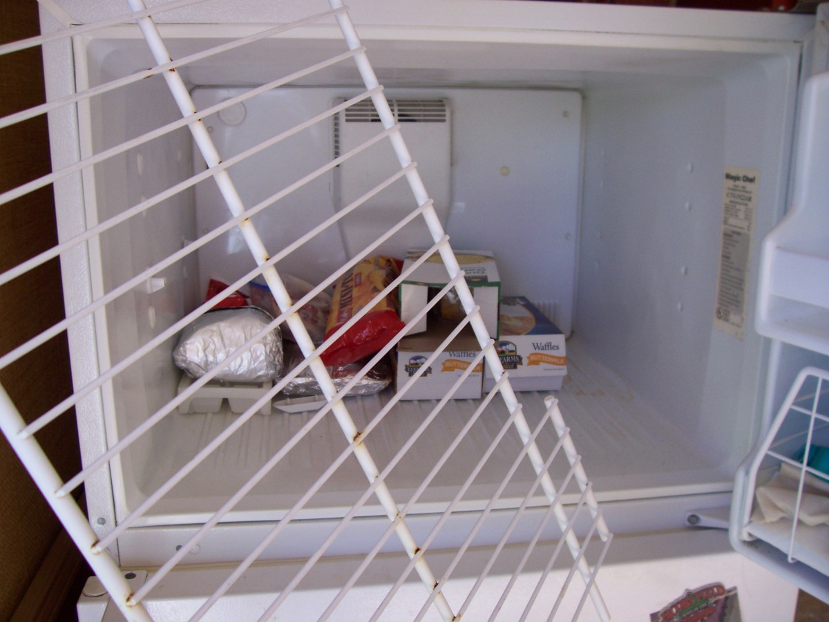Remove the freezer rack for easier cleaning.