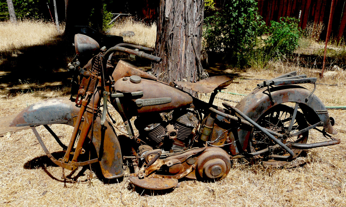 Image result for old motorcycle in junk yard