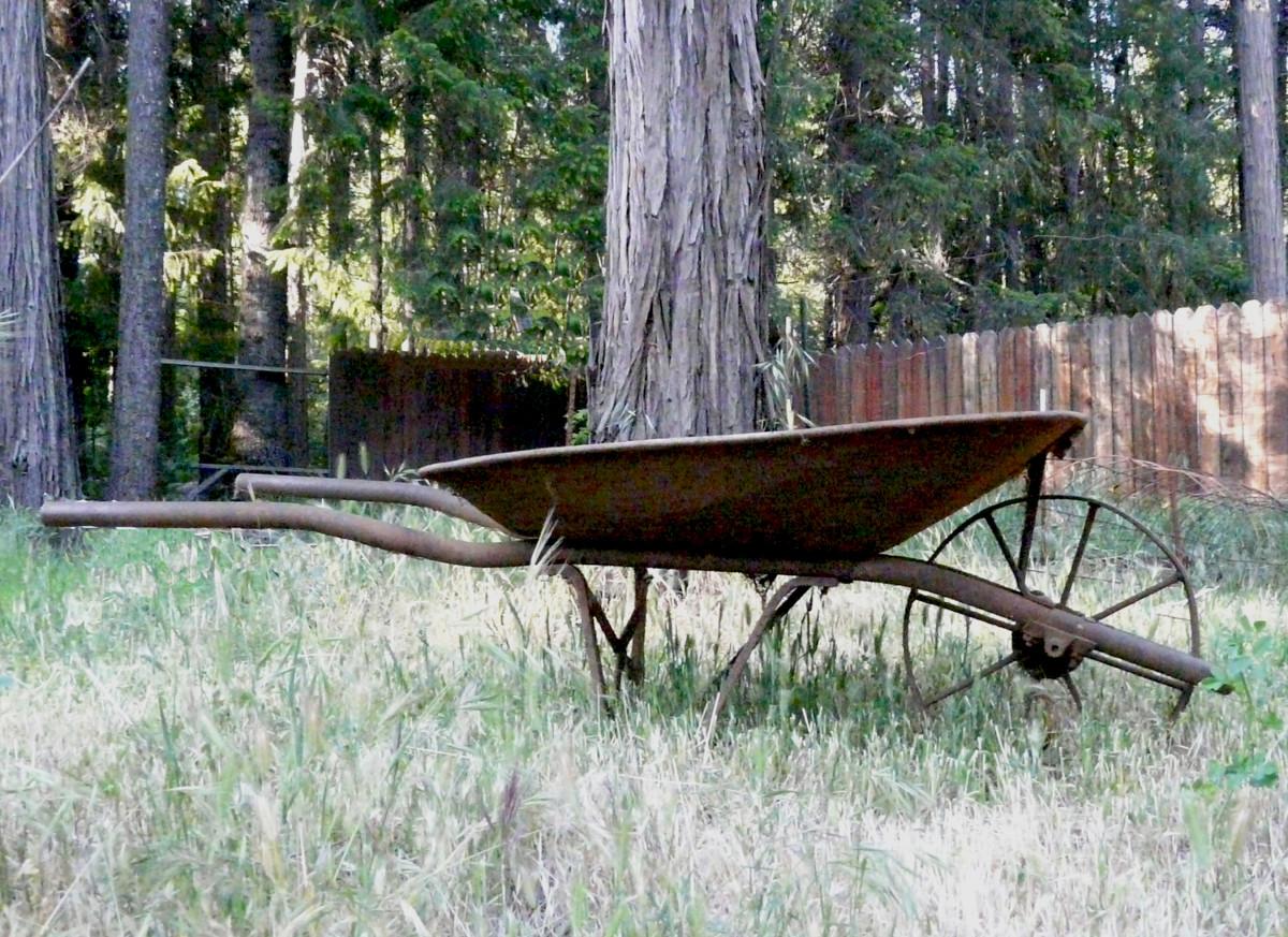 Old Rusty Wheelbarrow