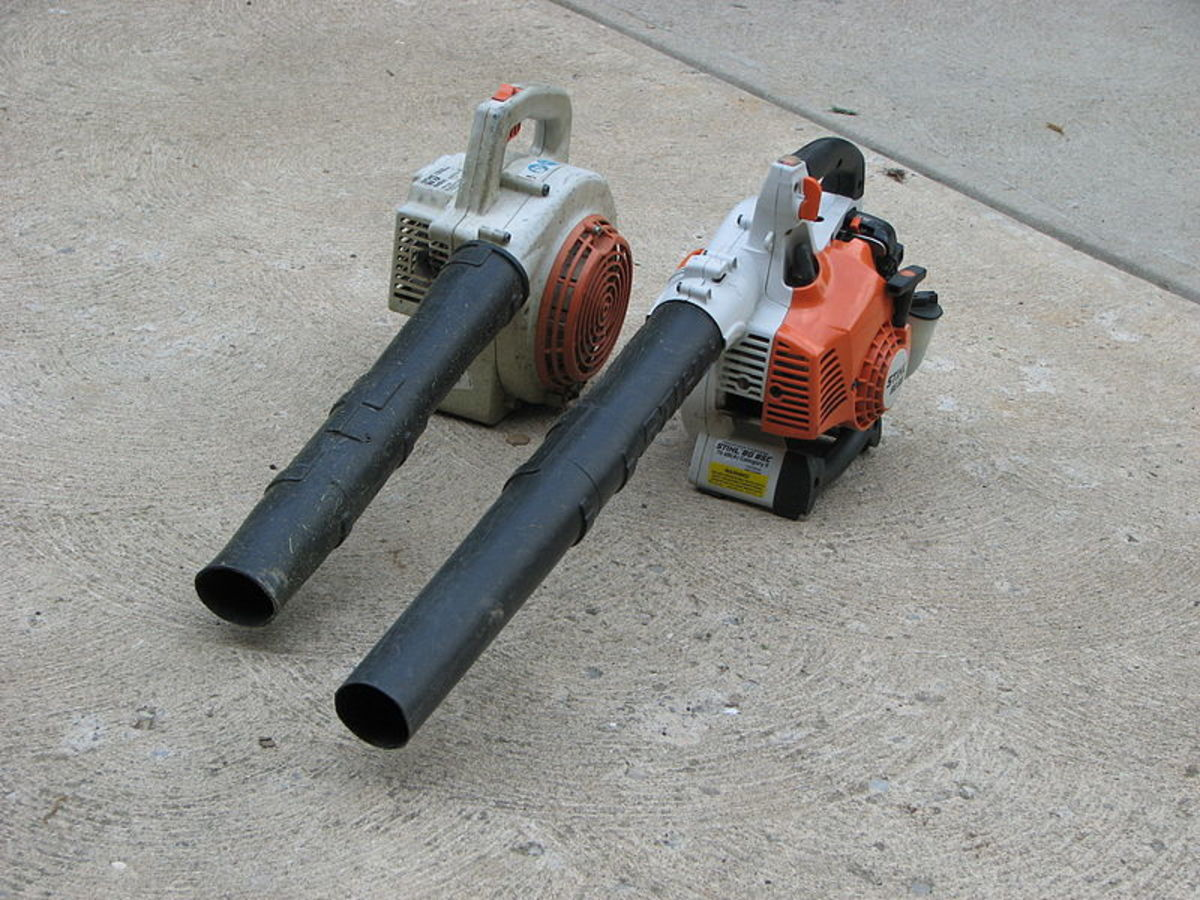 Gas leaf blowers