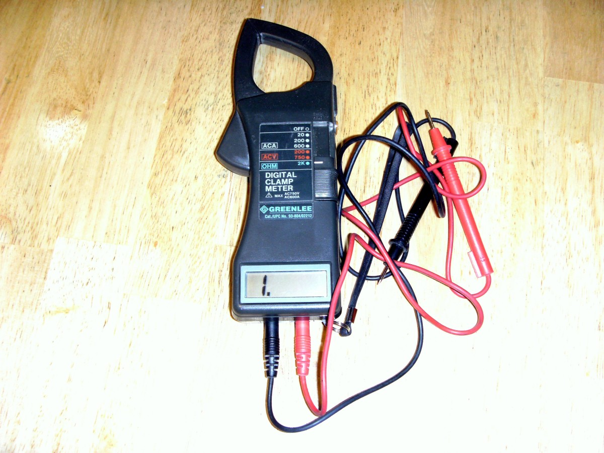 Multimeter.  Primarily designed for measuring amperage, but will also check resistance (continuity) and voltage.