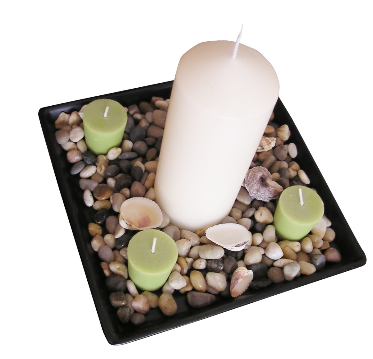 Candles are a great option and can be dressed up to suit your decor.