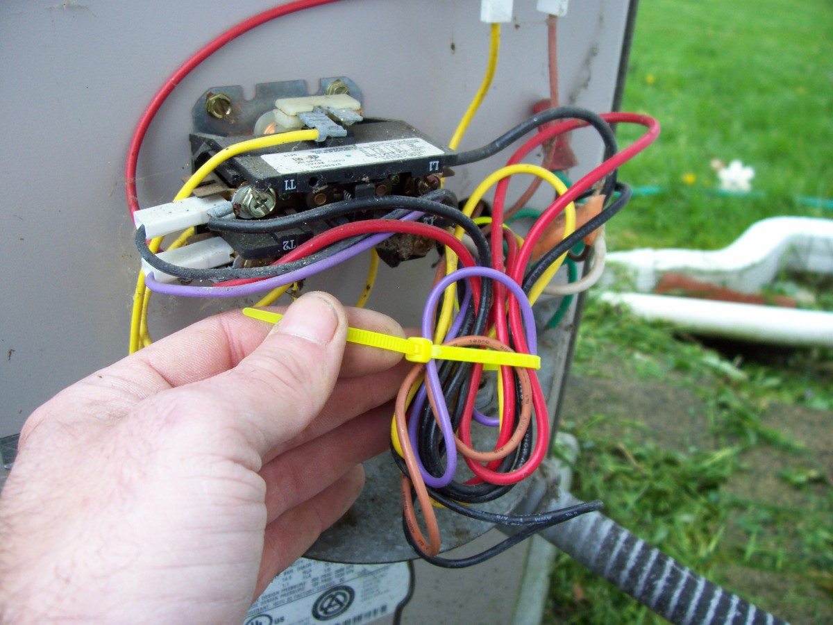 Remember to tie the wires back when you're done with the entire job. Use only an ALL plastic wire tie of some sort.