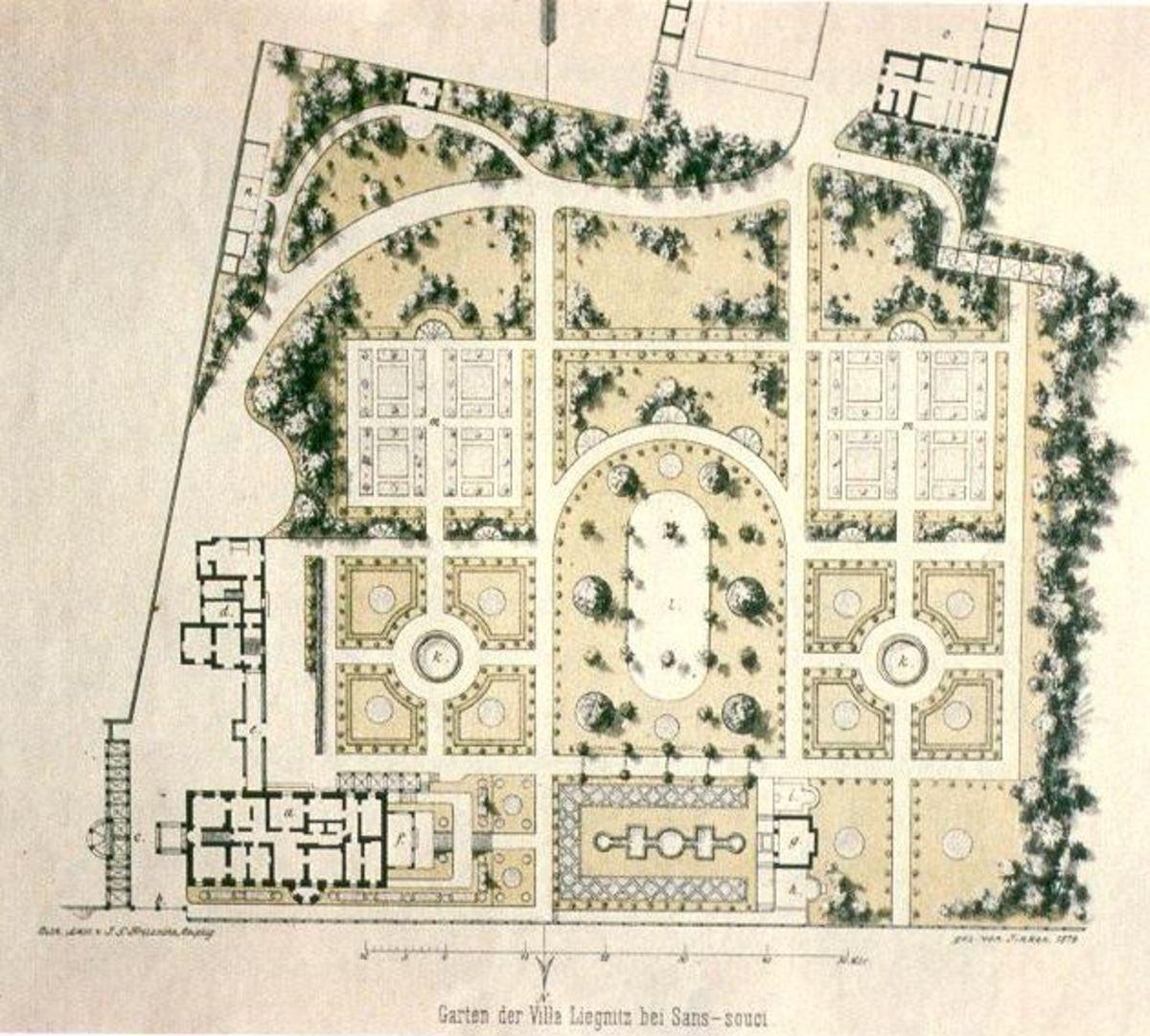 French garden design for Garden design map