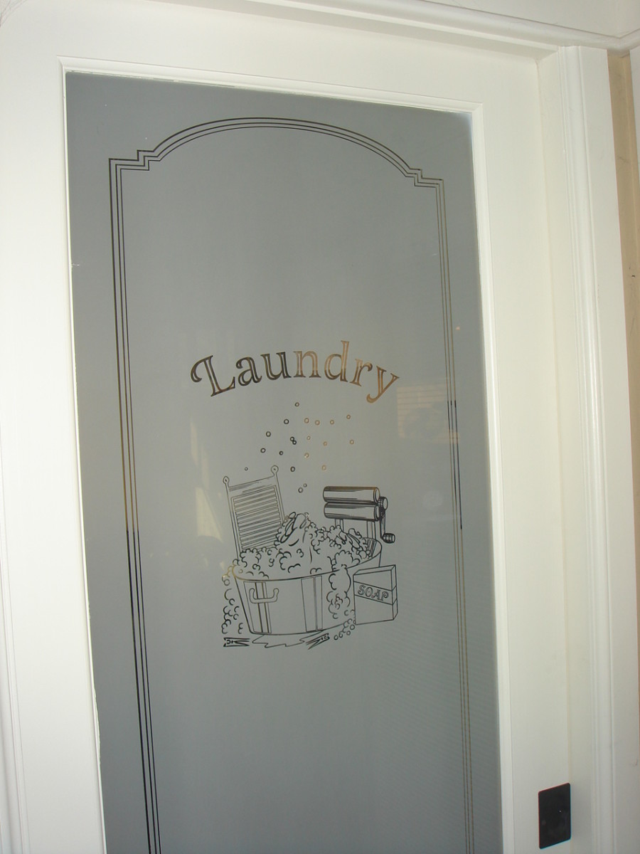 Pocket doors come in a variety of styles - like this one in the laundry room.