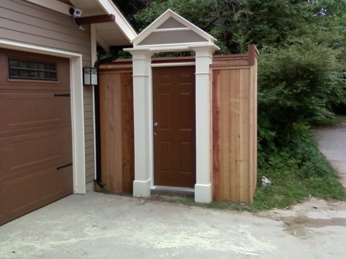 Instead of a gate on a fence, consider using a door instead.