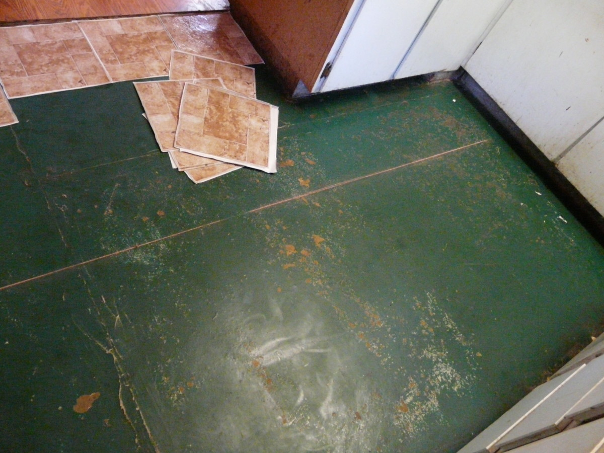My old floor. You can see why I was so desperate to replace it.